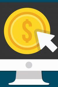 money with arrow icon - Website cost