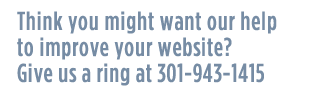 Call 240-221-3260 for a free website quote!