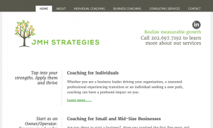 JMH Strategies web design