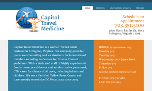 Capitol Travel Medicine web design